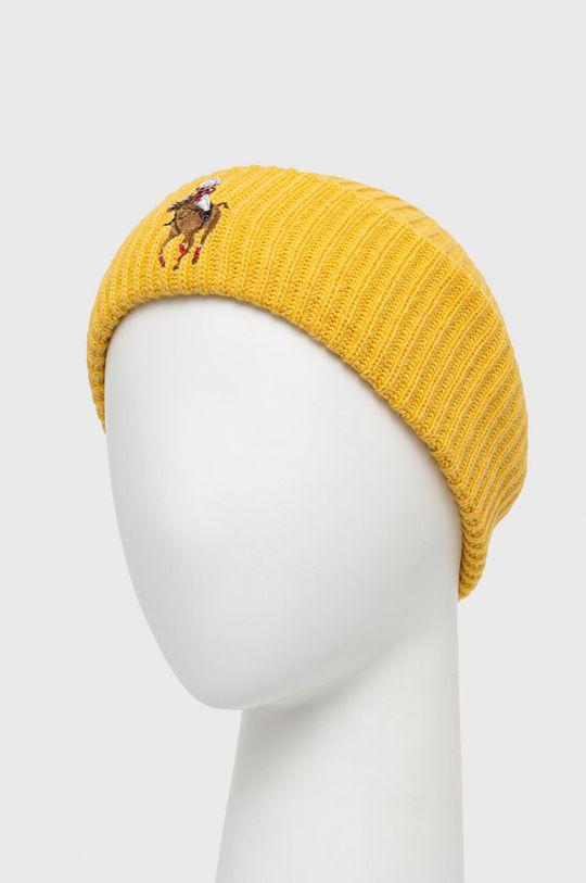 Polo Ralph Lauren - Čepice z vlněné směsi jantarová