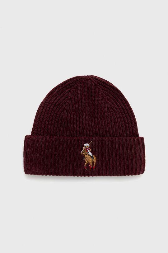 kaštanová Polo Ralph Lauren - Čepice z vlněné směsi Dámský