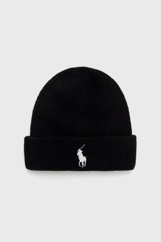 černá Polo Ralph Lauren - Čepice z vlněné směsi Dámský
