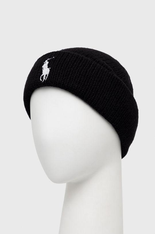 Polo Ralph Lauren - Čepice z vlněné směsi černá