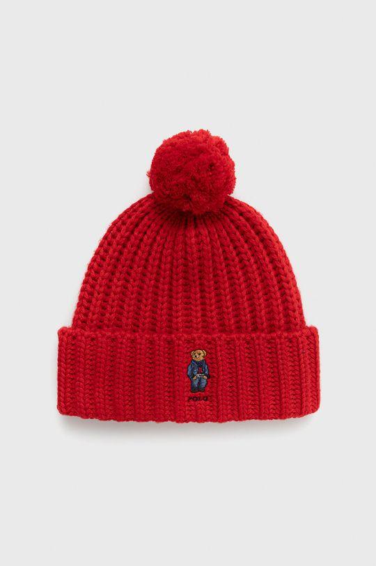 červená Polo Ralph Lauren - Čepice z vlněné směsi Dámský