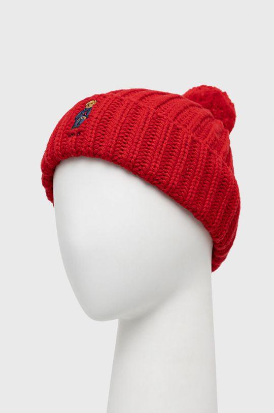 Polo Ralph Lauren - Čepice z vlněné směsi červená