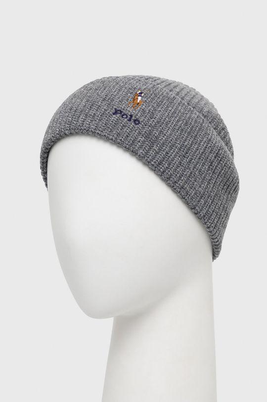 Polo Ralph Lauren - Čepice z vlněné směsi šedá