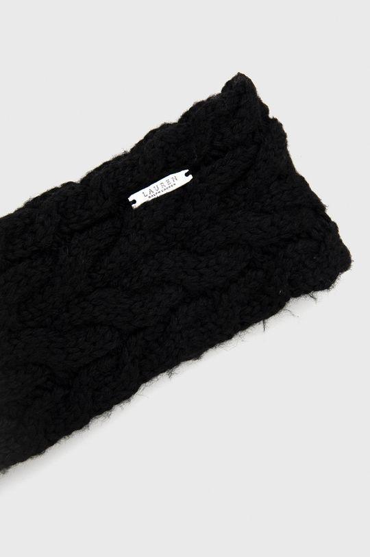 Lauren Ralph Lauren - Opaska z domieszką wełny czarny
