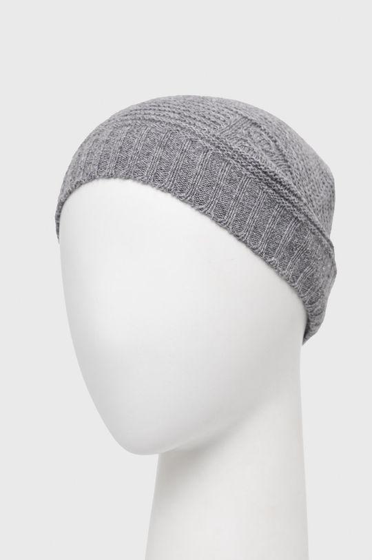 United Colors of Benetton - Vlněný klobouk šedá