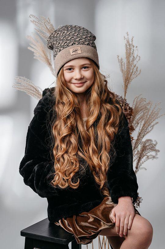 kawowy Jamiks - Czapka dziecięca Viga Dziewczęcy