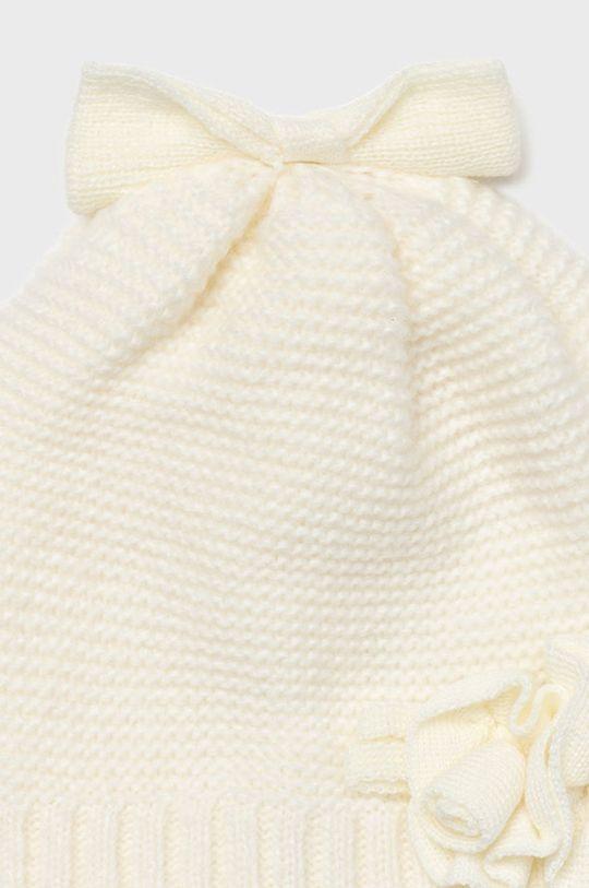 Mayoral - Czapka, szalik i rękawiczki dziecięce kremowy