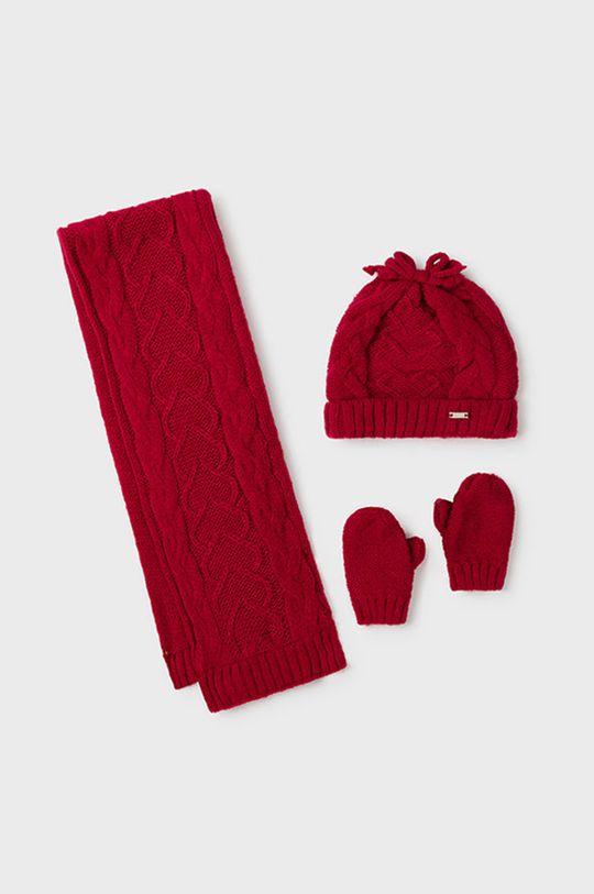ostry czerwony Mayoral - Czapka, szalik i rękawiczki dziecięce Dziewczęcy