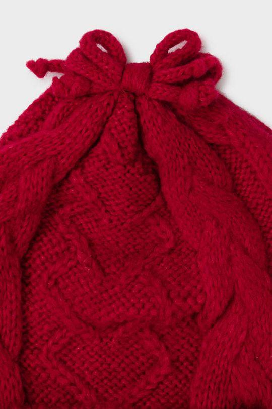 Mayoral - Czapka, szalik i rękawiczki dziecięce ostry czerwony