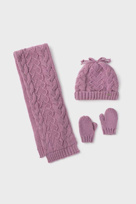 fuksja Mayoral - Czapka, szalik i rękawiczki dziecięce Dziewczęcy