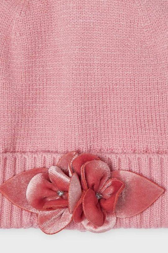 Mayoral - Czapka, szalik i rękawiczki dziecięce pastelowy różowy