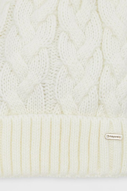 Mayoral - Czapka, szalik i rękawiczki kremowy
