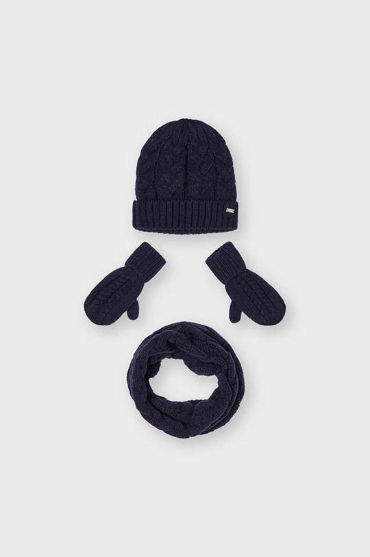 granatowy Mayoral - Czapka, szalik i rękawiczki Dziewczęcy