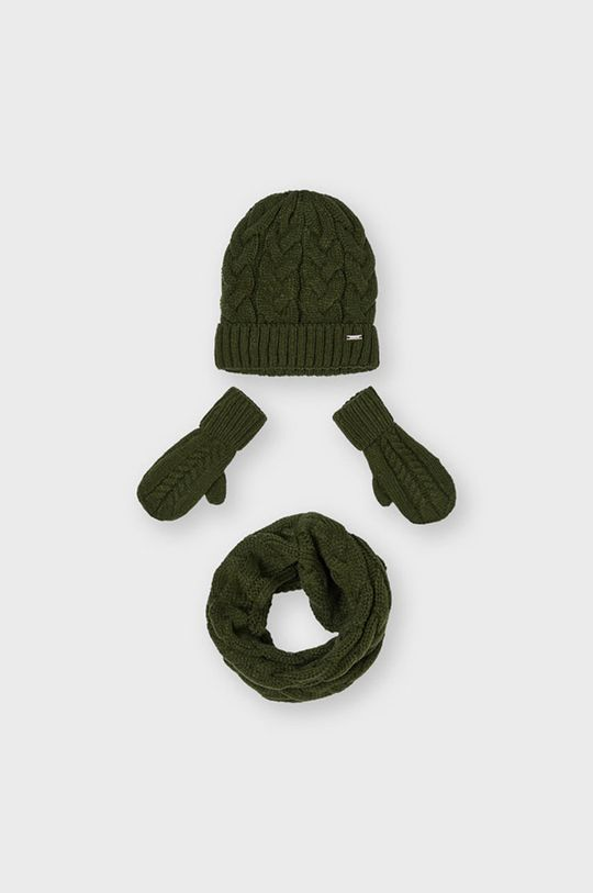brudny zielony Mayoral - Czapka, szalik i rękawiczki Dziewczęcy