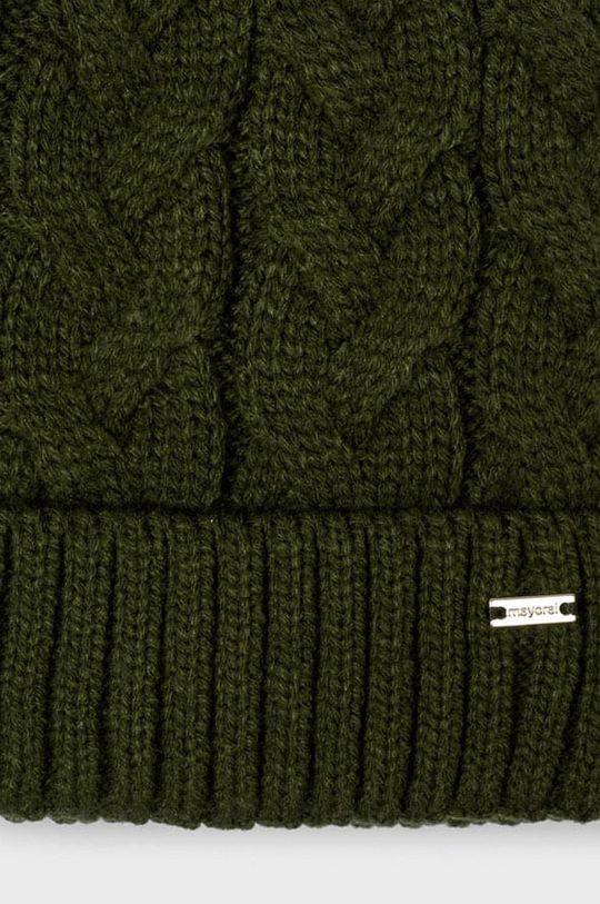 Mayoral - Czapka, szalik i rękawiczki brudny zielony