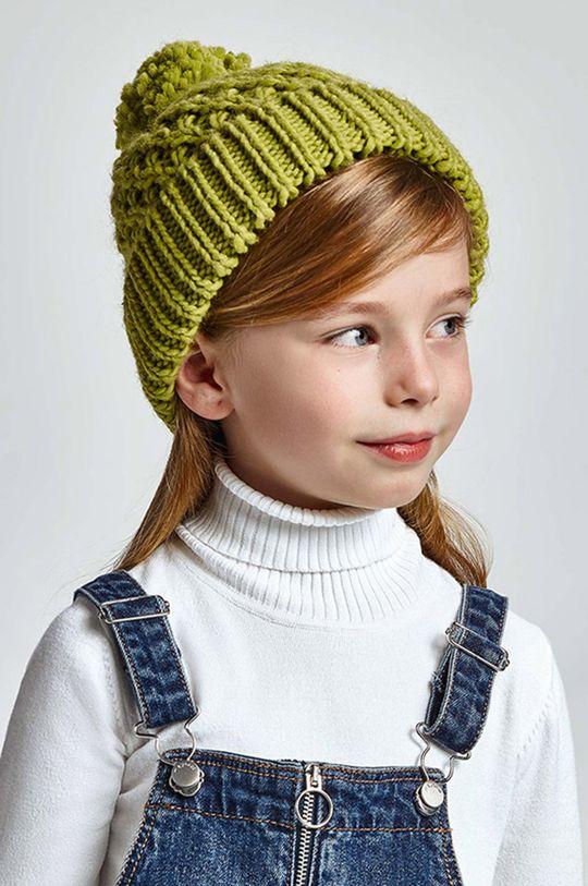 jasny oliwkowy Mayoral - Czapka dziecięca Dziewczęcy