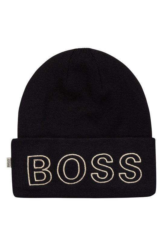 czarny Boss - Czapka dziecięca Dziewczęcy