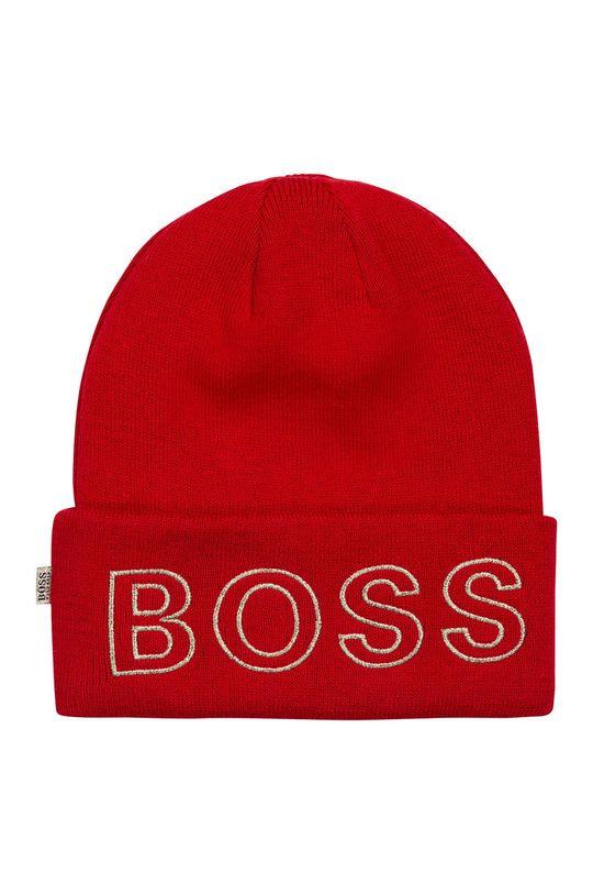 czerwony Boss - Czapka dziecięca Dziewczęcy