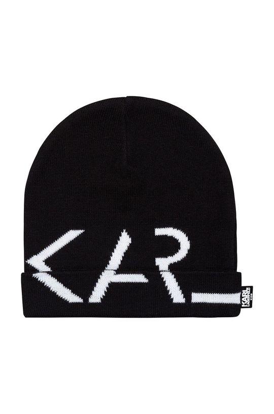 czarny Karl Lagerfeld - Czapka dziecięca Dziewczęcy