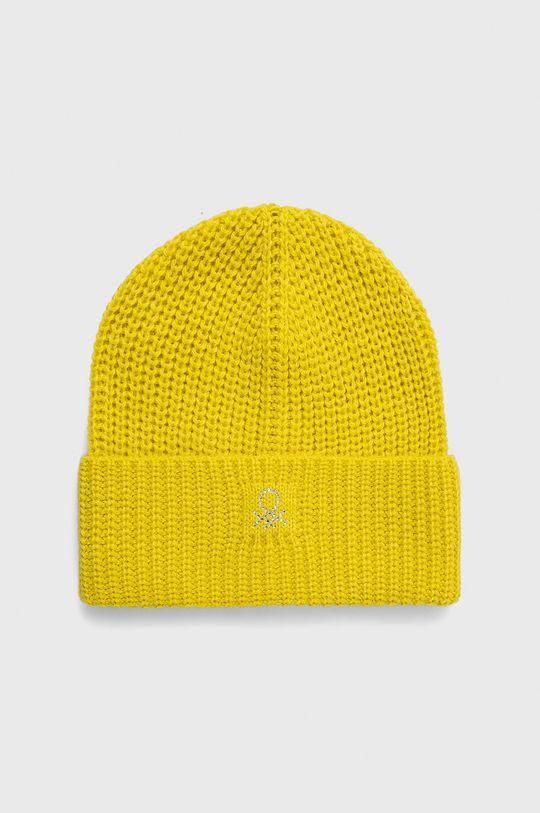 żółty United Colors of Benetton - Czapka Dziewczęcy