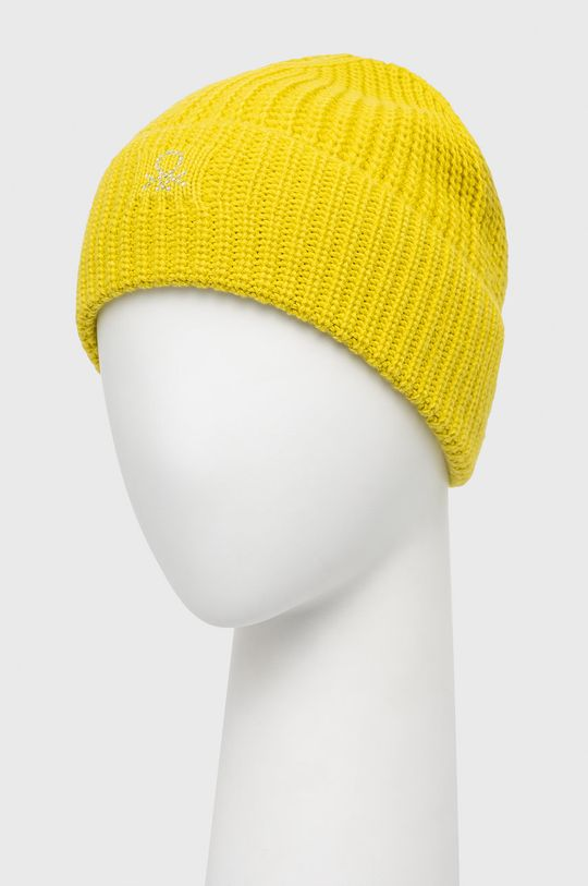 United Colors of Benetton - Czapka żółty