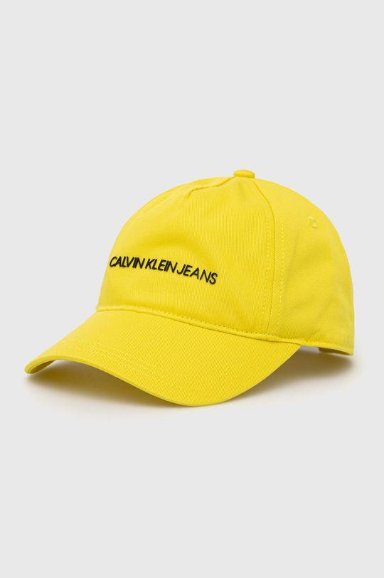 žlutá Calvin Klein Jeans - Dětska čepice Dětský