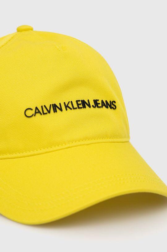 Calvin Klein Jeans - Dětska čepice žlutá