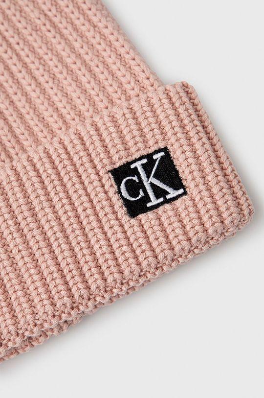 Calvin Klein Jeans - Czapka dziecięca różowy