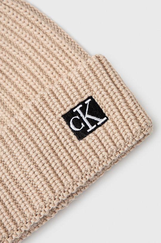 Calvin Klein Jeans - Czapka dziecięca beżowy