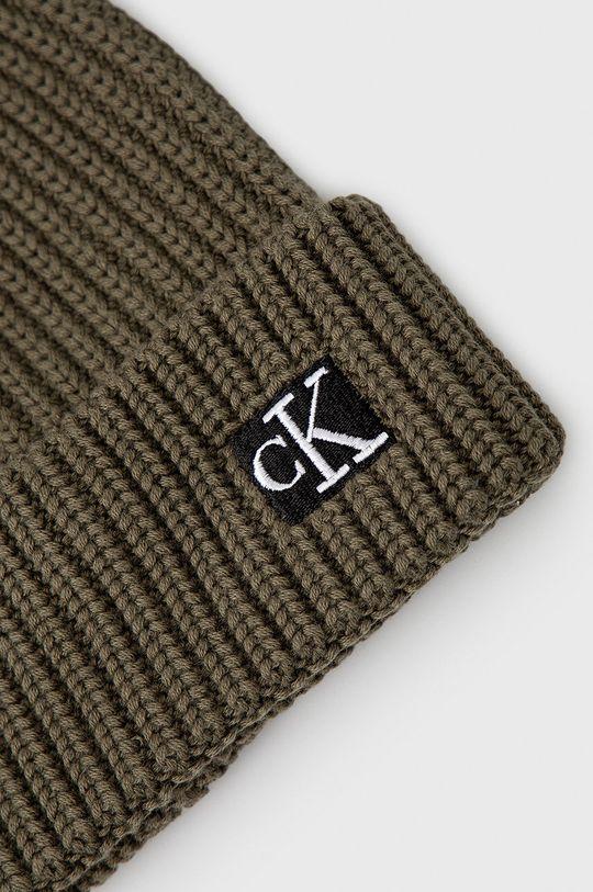Calvin Klein Jeans - Czapka dziecięca brudny zielony