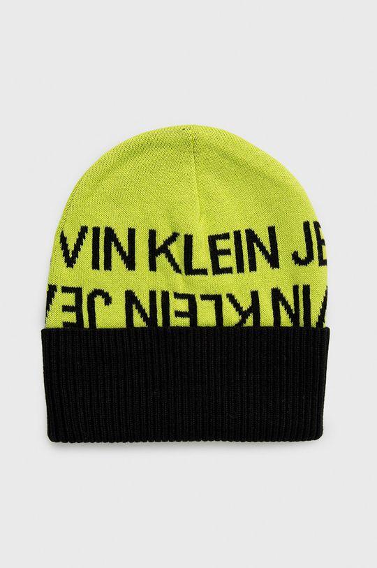 żółto - zielony Calvin Klein Jeans - Czapka Dziecięcy