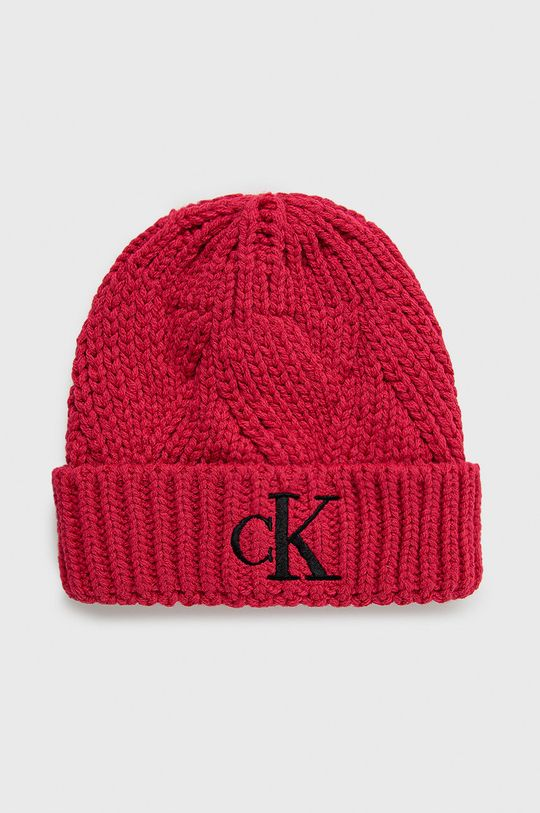 różowy Calvin Klein Jeans - Czapka dziecięca Dziecięcy