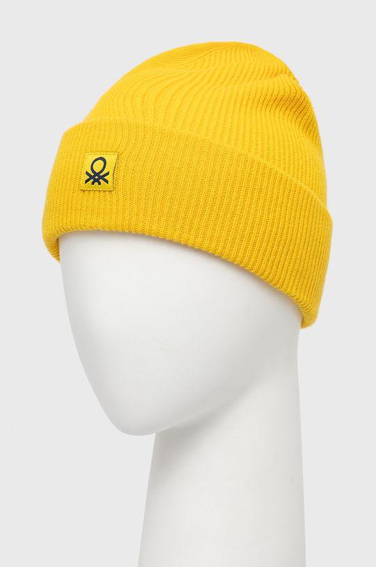 United Colors of Benetton - Czapka dziecięca żółty