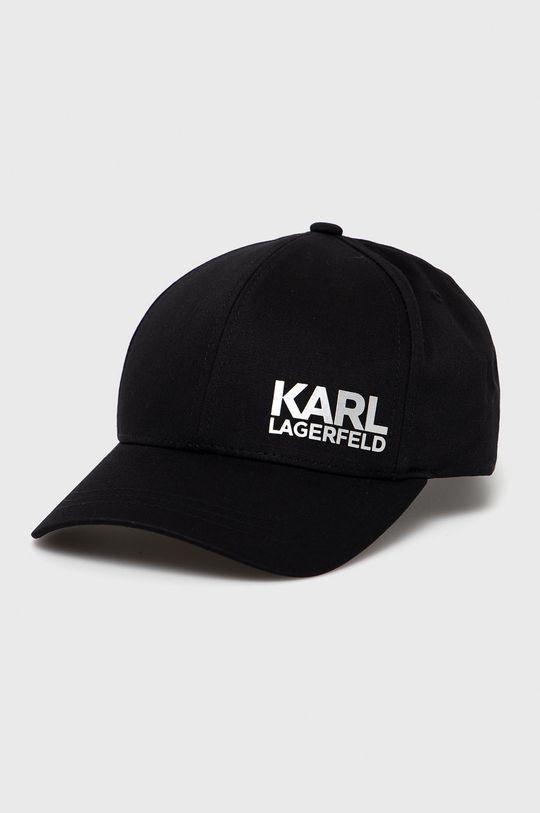 czarny Karl Lagerfeld - Czapka Męski