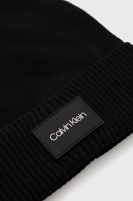 Calvin Klein - Czapka 5 % Kaszmir, 35 % Poliamid, 30 % Wełna, 30 % Wiskoza