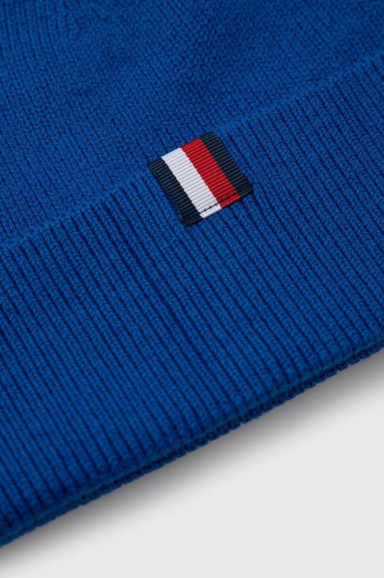 niebieski Tommy Hilfiger - Czapka z domieszką wełny