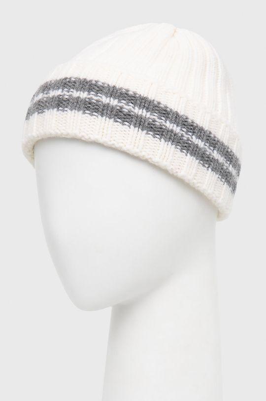 WOOLRICH - Czapka wełniana biały