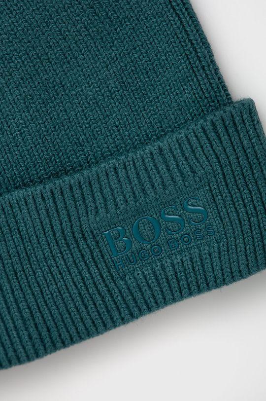Boss - Czapka z domieszką wełny niebieski
