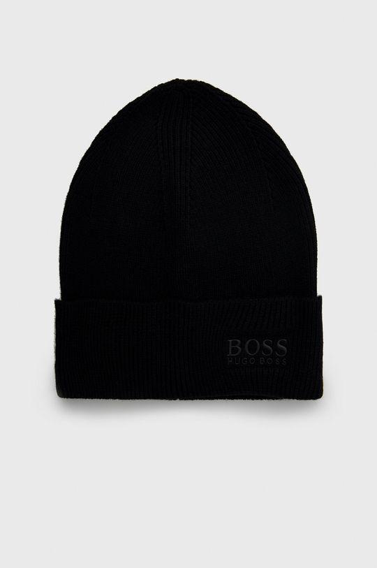 czarny Boss - Czapka z domieszką wełny Męski
