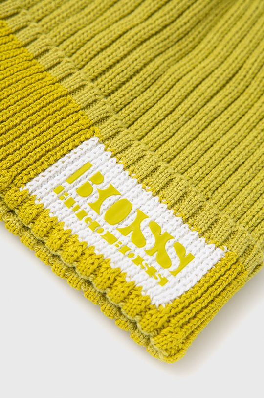 Boss - Czapka żółto - zielony