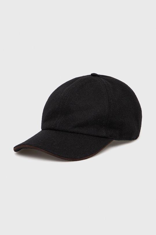 czarny ETON - Czapka wełniana Męski