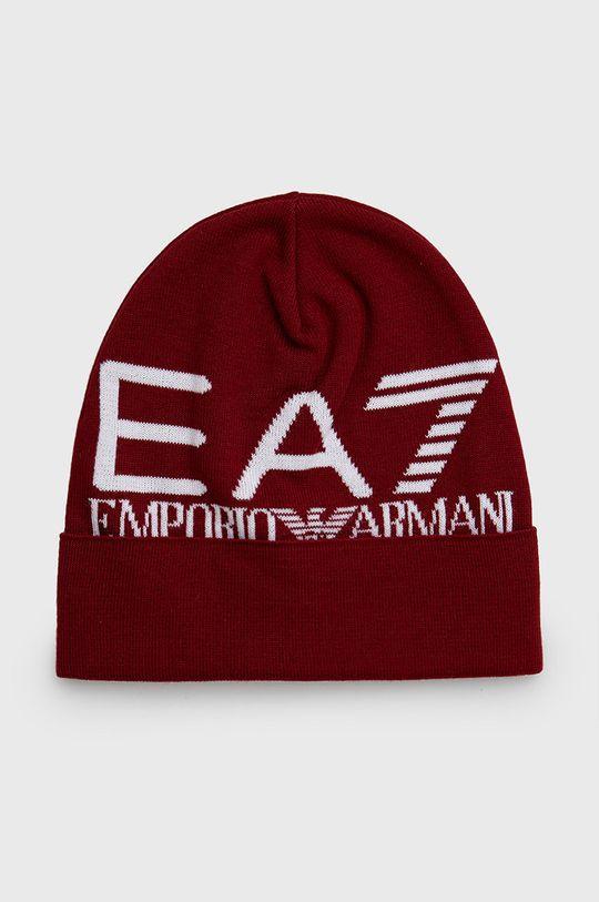 czerwony EA7 Emporio Armani - Czapka Męski