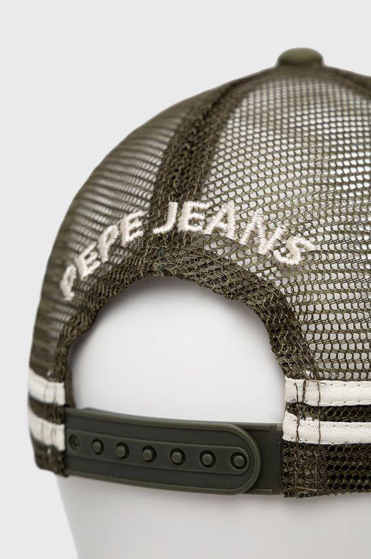 Pepe Jeans - Czapka Bradley Podszewka: 100 % Bawełna, Materiał 1: 100 % Poliester, Materiał 2: 100 % Poliuretan