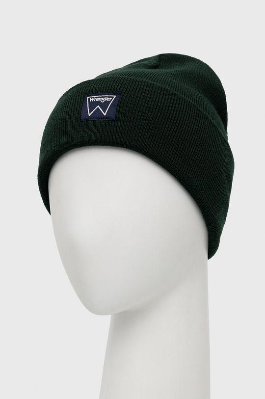 Wrangler - Czapka brązowa zieleń