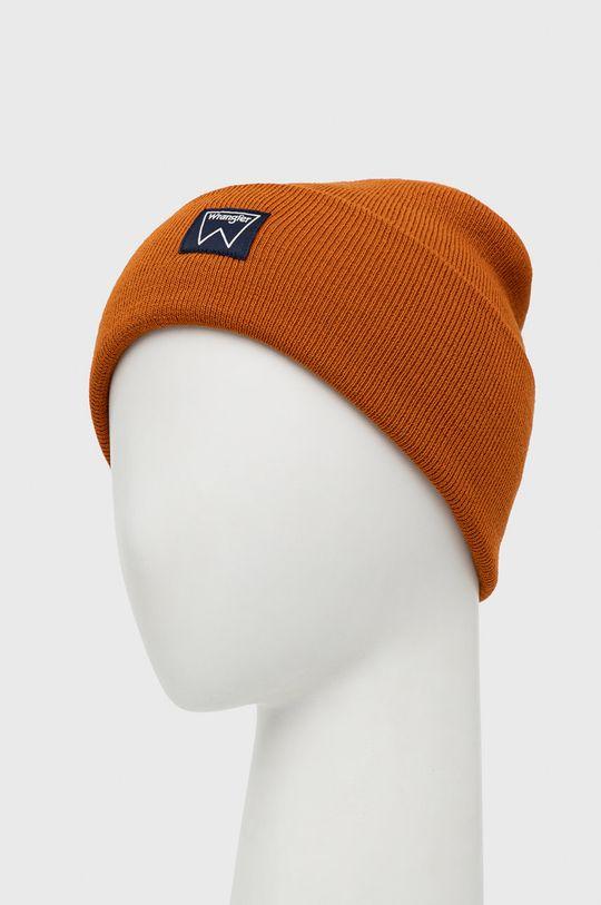 Wrangler - Czapka pomarańczowy