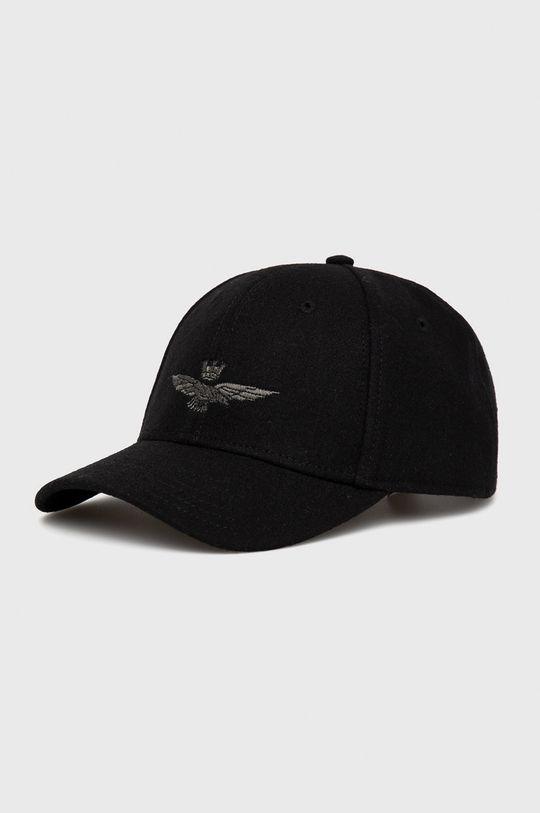 czarny Aeronautica Militare - Czapka wełniana Męski