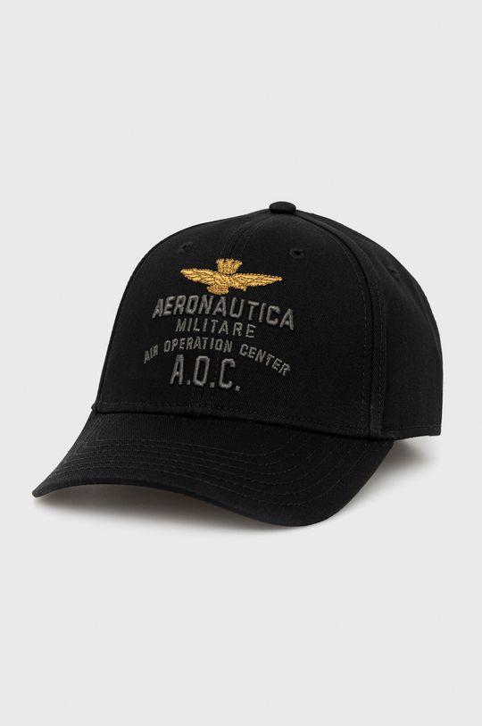 czarny Aeronautica Militare - Czapka Męski