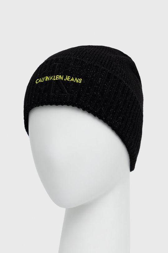 Calvin Klein Jeans - Czapka z domieszką wełny czarny