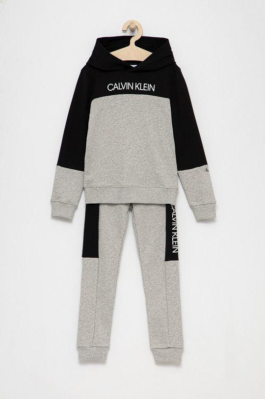 jasny szary Calvin Klein Jeans - Komplet dziecięcy Chłopięcy