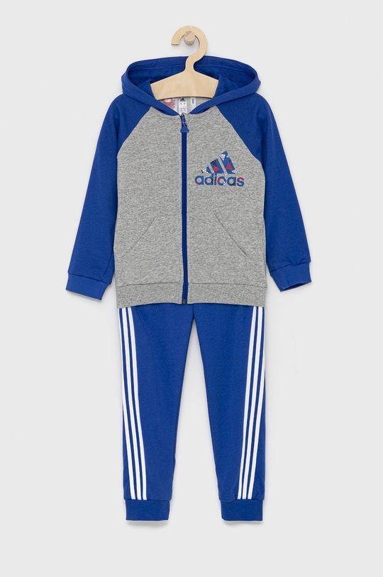 modrá adidas Performance - Dětská tepláková souprava Chlapecký
